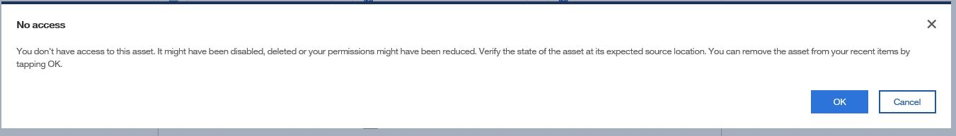 Cognos access issue user