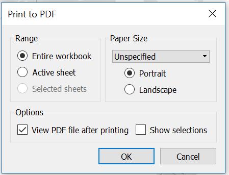 tableau print to pdf